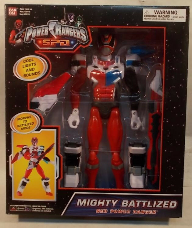 Power rangers s.p.d. 12  mighty battlized rote ranger verwandlungen licht & klingt spd