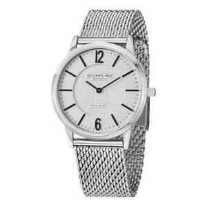 Stuhrling-122-33112-Somerset-Elite-Swiss-Quartz-Ultra-Slim-Mesh-Band-Mens-Watch