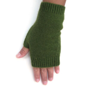 100-Mongolia-Pure-Cashmere-Wool-Fingerless-Thick-Women-Woman-Gloves-Mittens