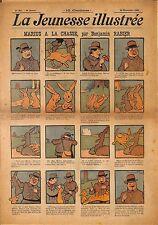 """ LA JEUNESSE ILLUSTREE "" PERIODIQUE BENJAMIN RABIER CHASSE LUC LEGUEY 1908"