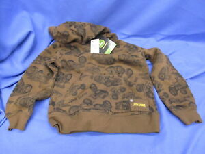 NWT Brown John Deere Hoodie 5/6 Hooded Sweatshirt  M(5/6)