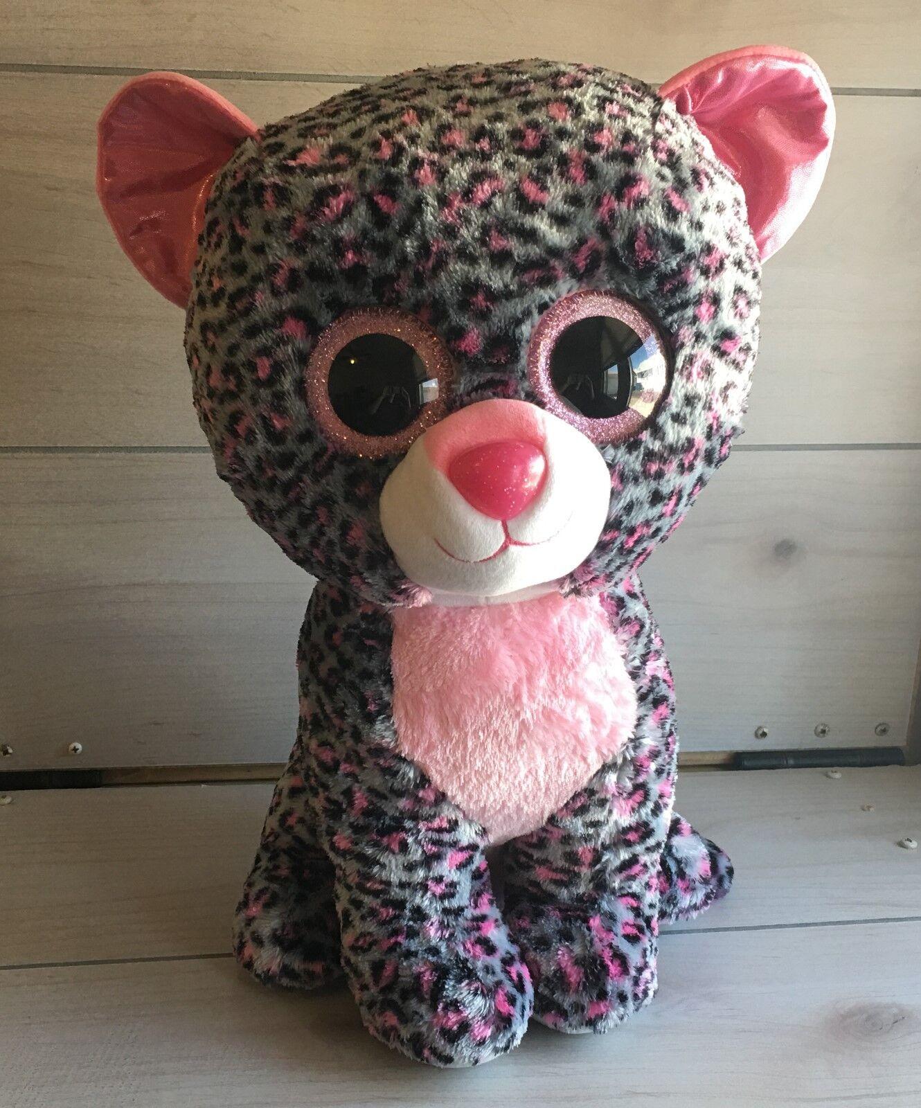 Ty mütze boos große tasha leopard katze weichen.18 - zoll - gefüllte spielzeug justiz jumbo
