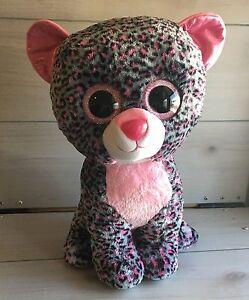70195c91eb7 Ty Beanie Boos Large Tasha Leopard Cat Plush! 18 Inch Stuffed Toy ...