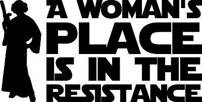 resistance leia sticker
