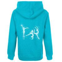 Girls Diamante Gymnast Figures Beam Zip hoodie Gymnastics Zoodie FREE NAME