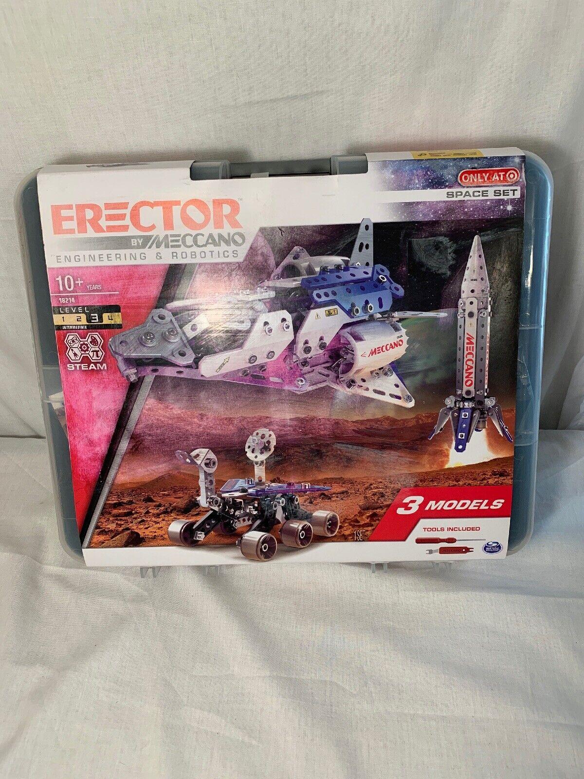 Meccano Erector 18214 Engineering & Robotics Space Set new with damaged box