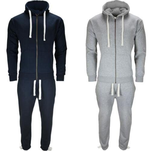 Men/'s Full Tracksuit Set Fleece Hoodie Top Bottom Suit Trackies Jogging Joggers