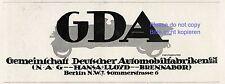 GDA NAG Hansa Lloyd Brennabor Reklame von 1920 Neumann Berlin Werbung ad