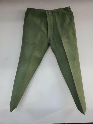 Vtg Vietnam Military Trouser OG 107 Type 1 Green P