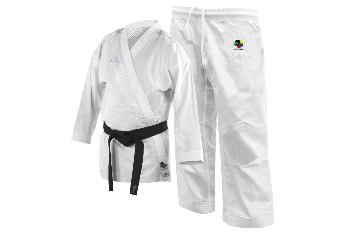 Adidas Kumite Karate Gi Fighter Completo Wkf Approvato Adulti Uniforme Bianco