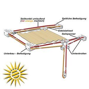 50% Preis schön billig schnell verkaufend Details zu Seilzug für Seilspannmarkise Pergoa 14m Edelstahlseil ohne  Laufhaken Sonnensegel
