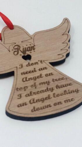 Rememberance Angel Personalised Wooden Christmas Angel