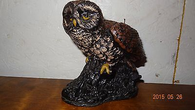 Vintage Owl Sculptured candle wax Carved