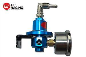 Adjustable-Fuel-Pressure-Regulator-with-Filled-Oil-Gauge-SARD-Style-Blue