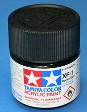 Tamiya FLAT BLACK  Acrylic Hobby Model Paint XF-1 XF1 23ml Bottle 81301