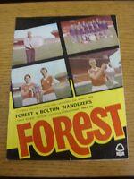 31/03/1979 Nottingham Forest v Bolton Wanderers  (Folded)