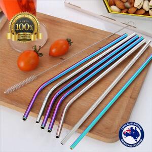 1-4-8x-Metal-Stainless-Steel-Drinking-Straw-Straws-3-Cleaner-Brush-Kit-Tools