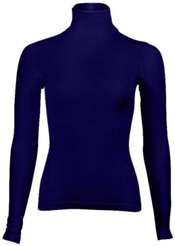 Le donne di Base Manica Lunga Semplice Collo Alto Donna Bodywear islamica SILVY Lycra