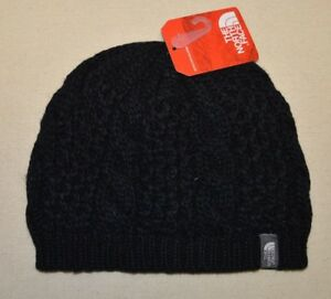 0ff331f552493 North Face Women s Men s Beanie Hat Knit Cable Minna One Size Black ...