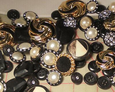 1//2 Pound Button Mix Black Combo Plastic Shank /& 4 Hole Buttons Wholesale Bulk