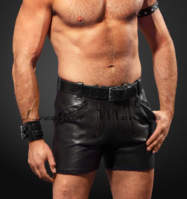 Pantaloncini corti in pelle lederzunfthose leder-zunfthose