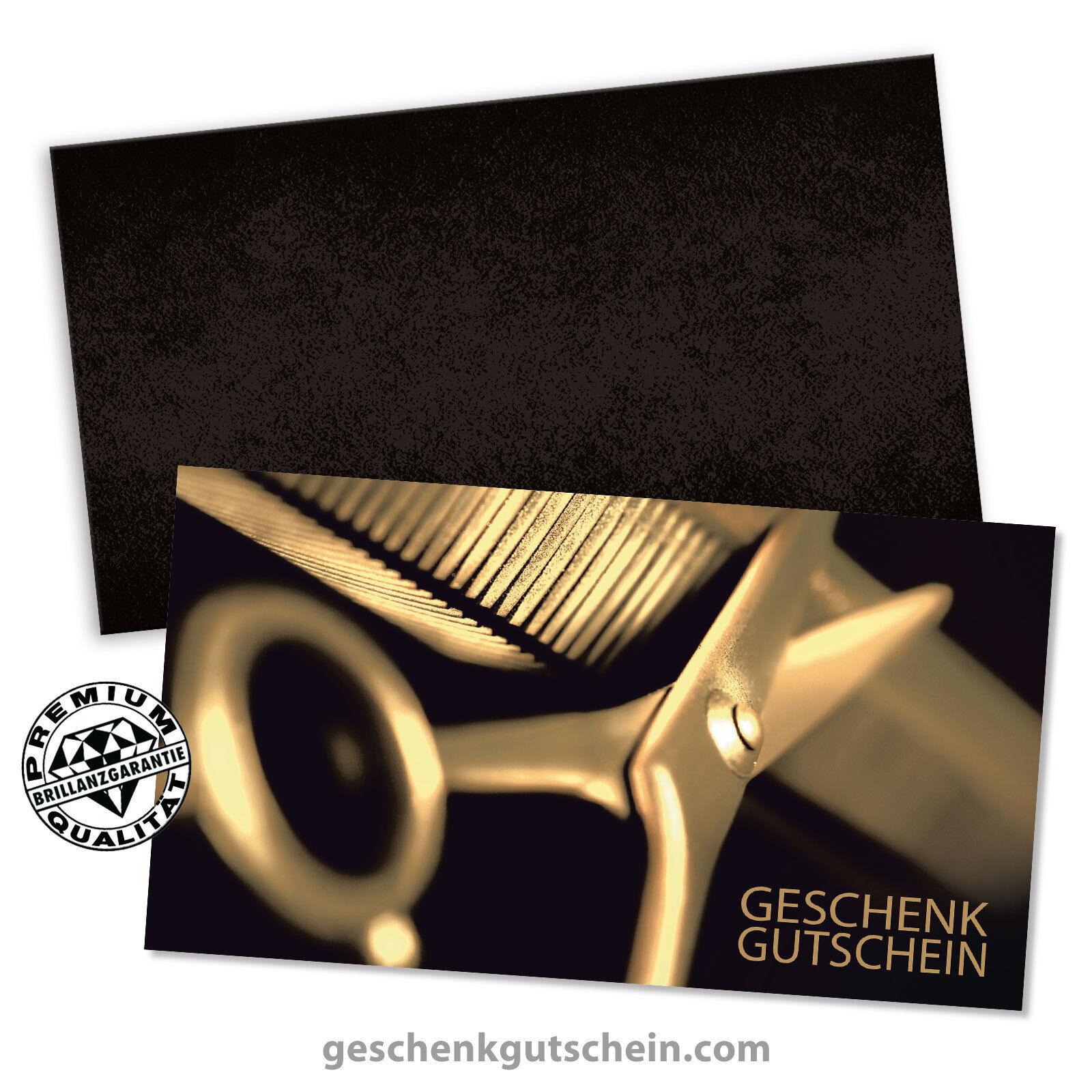 Gutscheinkarten  Standard  + KuGrüns für Friseure, Coiffeure, Hairstyling K1268