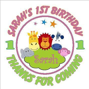 lots of designs 3 sizes available Personalised Birthday Party Stickers