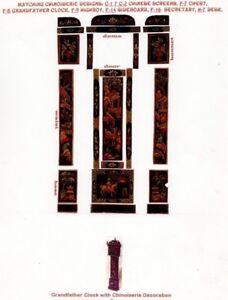 1-24-scale-Natasha-Beshenkovsky-039-s-Mini-Decoupage-Chinoiserie-GRANDFATHER-CLOCK