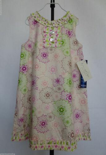 NWT Nain and Joe by Hannah Kate Girls Sleeveless Floral Ruffle Dress Ivory Sz 7