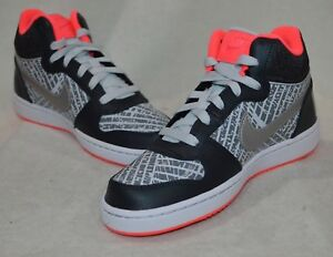 new style bbf6d eb097 Image is loading Nike-Court-Borough-Mid-Print-GS-Anthracite-Silver-