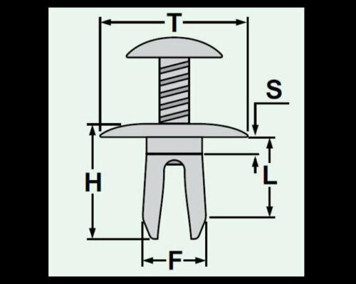 10x Befestigungsklammer Blechmutter Klammer M8 F8 metall schwarz 426