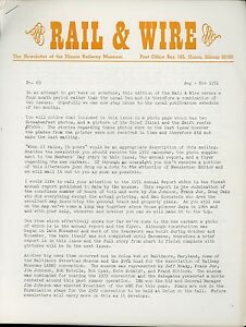 1971-Rail-amp-Wire-Newsletter-Illinois-Railway-Museum-Chicago-Surface-Lines