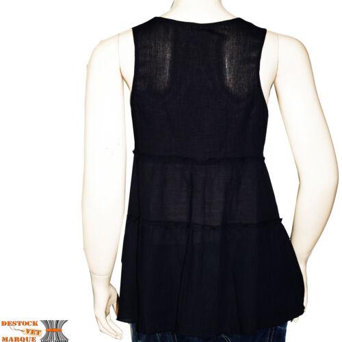 Rock Ikks I Eagle Femme Taille Tunique Noir Top By Debardeur Size code L Zw06ASAq