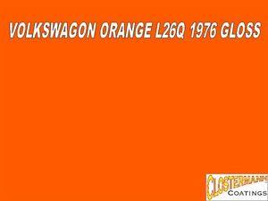Image Is Loading 5l Cellulose Car Paint Vw L26q Orange