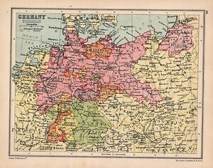 Berlin Map Of Germany.Details About 1934 Map Germany Hanover Berlin Holstein Frankfurt