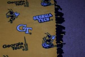 NCAA Fleece Fabric Blankets - Various Teams