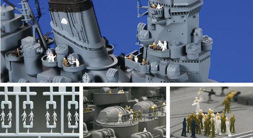 Tamiya #12622 1/350 Scale Model Battle War Ship Crew Navy Soldier (144pcs) Set