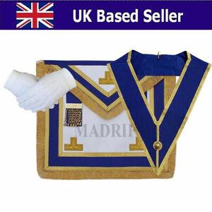 Masonic-Regalia-CRAFT-PROVINCIAL-DRESS-APRON-AND-COLLAR-PACKAGE-LAMBSKIN