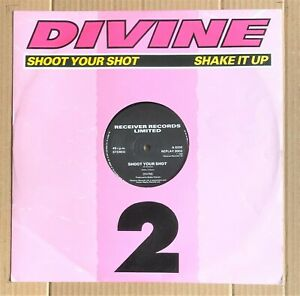 Divine-Shoot-Your-Shot-Shake-It-Up-1986-Hi-NRG-12-034-Vinyl-45rpm