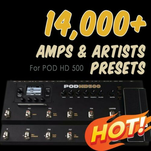 presets ✪ for Line 6 POD HD 500 ✪ patches bundle Collection ✪ ✪ 14,000