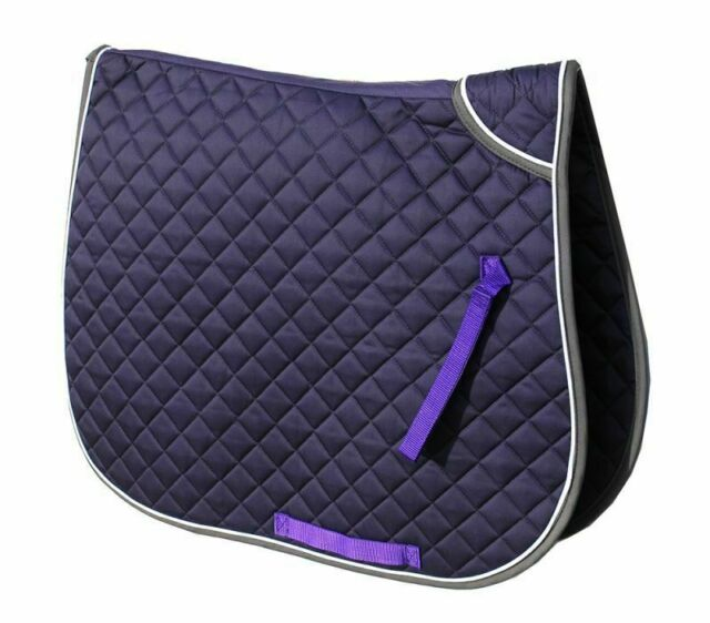 Full, Purple Rhinegold Quilted Saddle Cloth With Twin Binding
