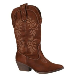 Women-039-s-Rampage-Vinnmo-Riding-Cowboy-Cowgirl-Boots-Shoes