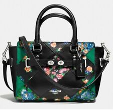COACH Mini Black Blake Floral Patchwork Leather Messenger Bag Crossbody F57610