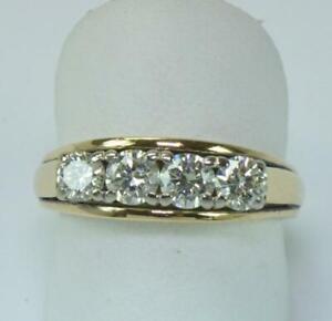 Ring-mit-4-Brillanten-diamonds-1-2-ct-in-aus-14-Kt-585-Gold-Gr-60