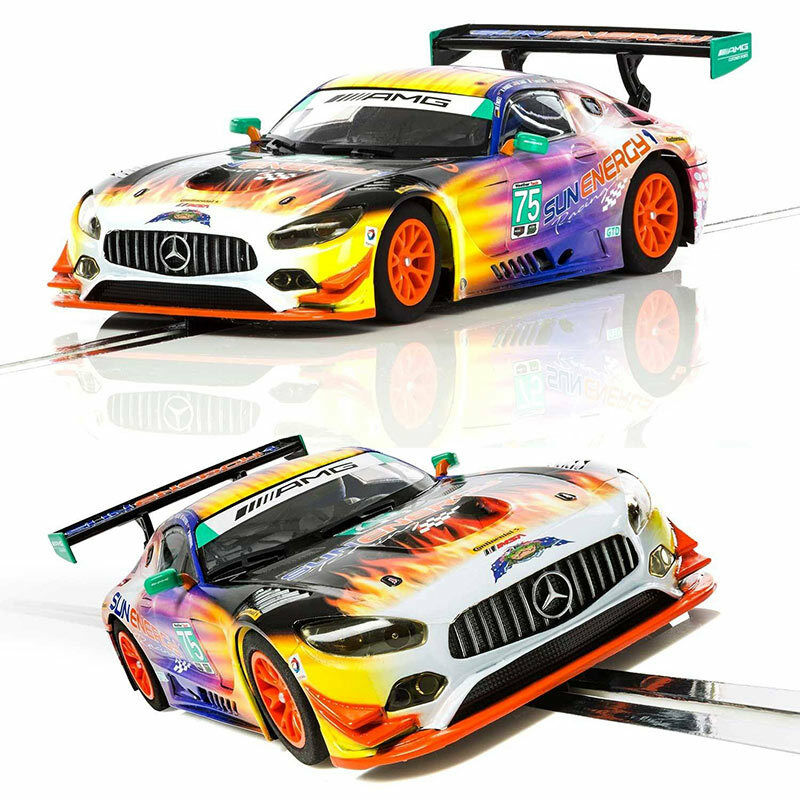 SCALEXTRIC Slot Car C3941 Mercedes AMG GT3 2017 SunEnergy1 Racing Daytona 24 Hr
