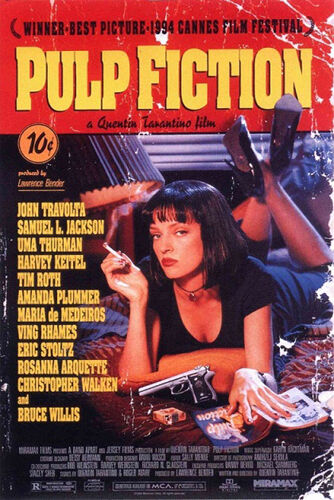 1 of 1 - PULP FICTION MOVIE SCORE UMA THERMAN POSTER (61x91cm)  PICTURE PRINT NEW