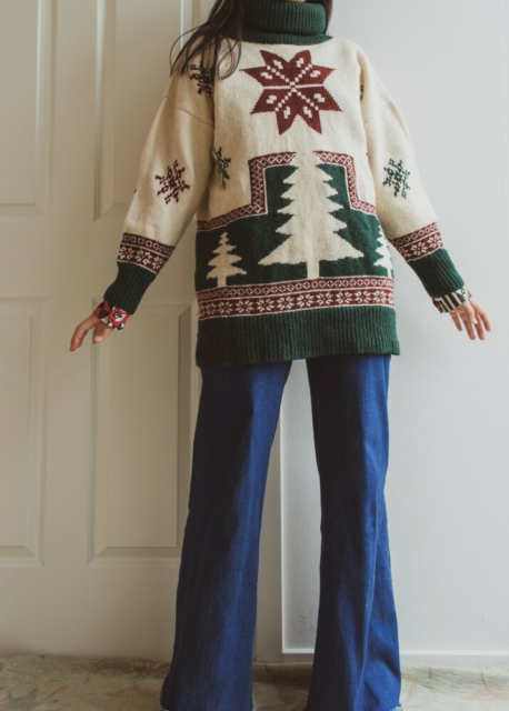 Sweater, vintage, str. 38, Does this count as a Christmas…