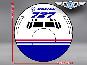 BOEING-727-B727-FRONT-VIEW-DECAL-STICKER