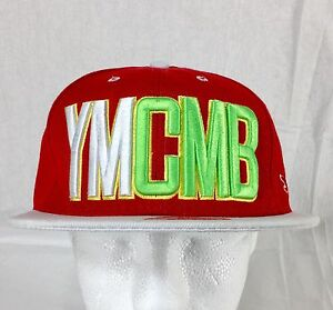 YMCMB Young Money Cash Money Billionaires Baseball Cap Hat Red White ... a3ca419dc68