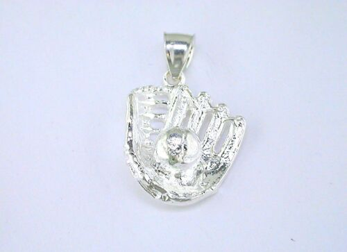 Sterling Silver Baseball and Glove Pendant
